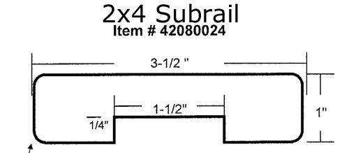 2x4 ipe Subrail 42080024