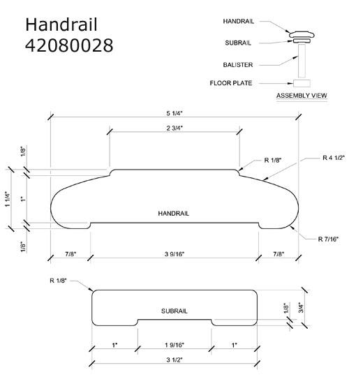 42080028 Ipe Handrail & Subrail