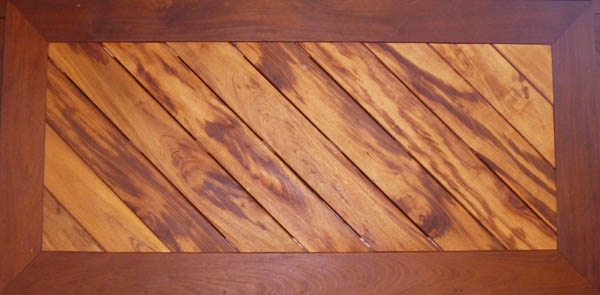 Tigerwood with Ipe Border